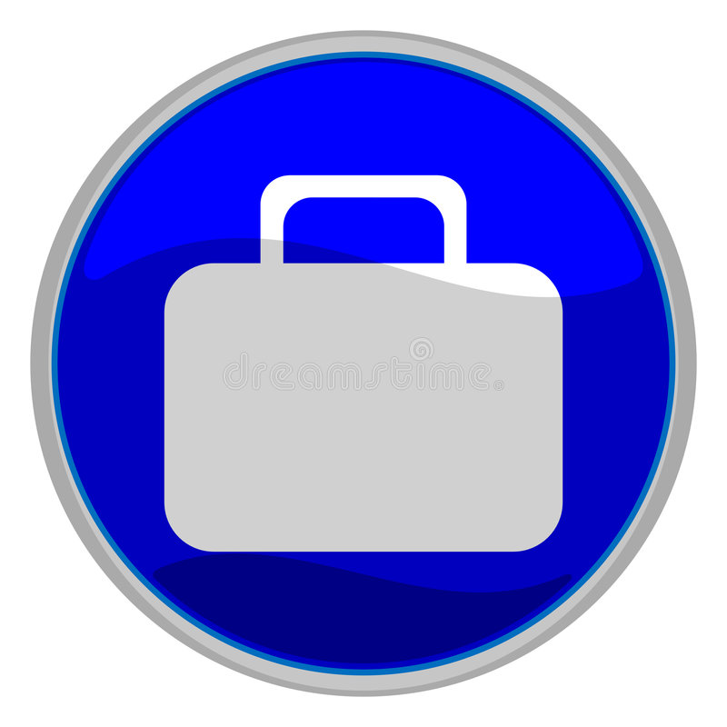 Suitcase button royalty free illustration