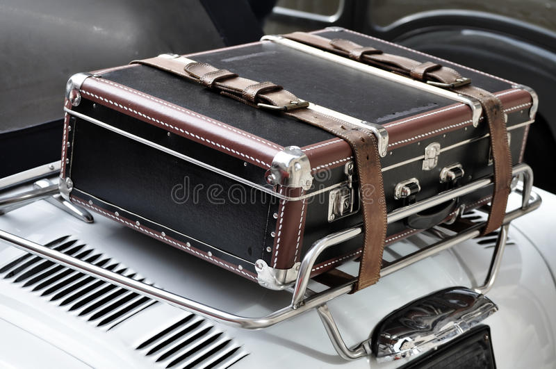 Download Suitcase on a Car stock image. Image of white, leather - 16544983