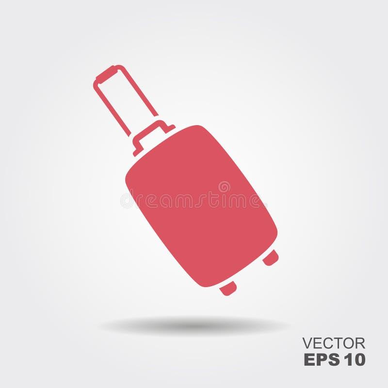 Suitcase flat icon stock illustration