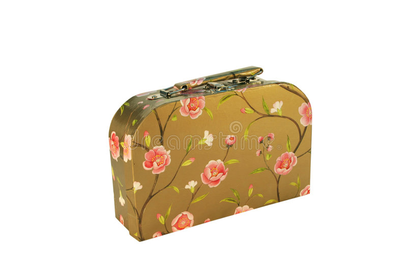 Download Suitcase with flowers stock image. Image of little, pink - 4096475