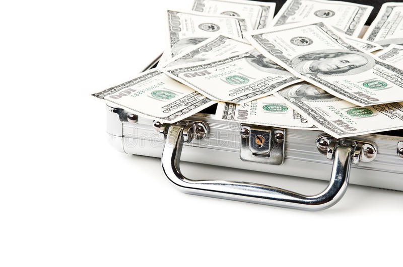 Download Suitcase Full Of Dollars Royalty Free Stock Image - Image: 21824276