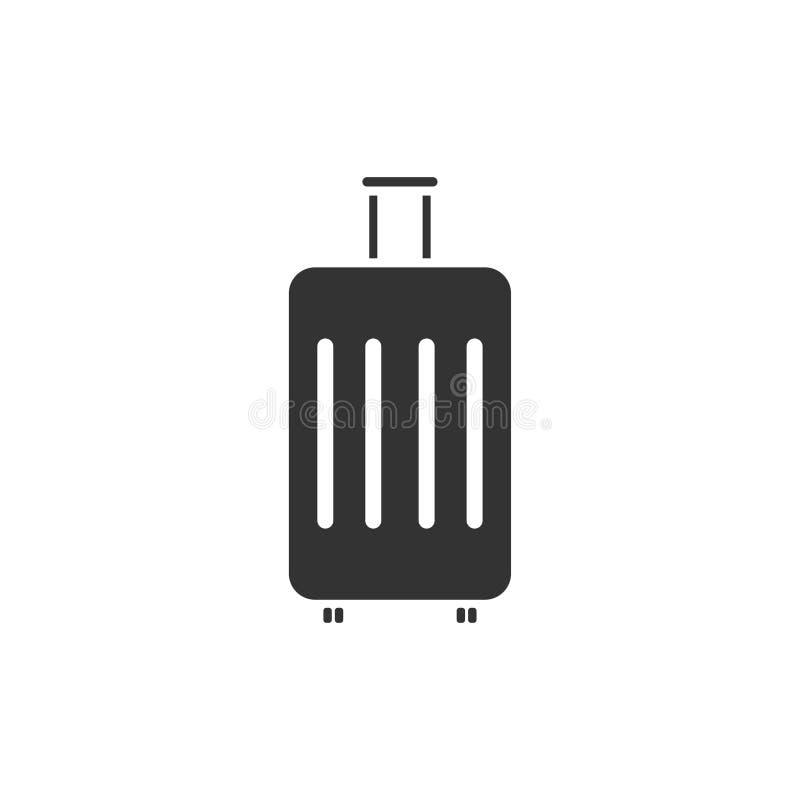 Suitcase icon flat royalty free illustration