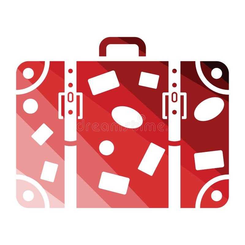Suitcase icon royalty free illustration