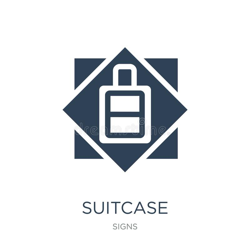 suitcase icon in trendy design style. suitcase icon isolated on white background. suitcase vector icon simple and modern flat stock illustration