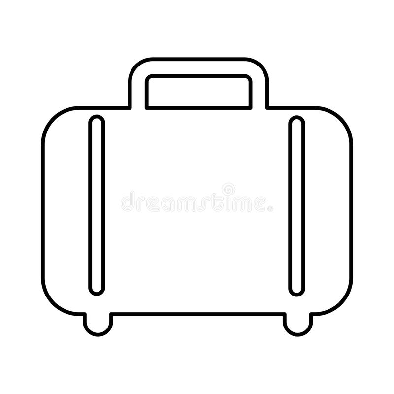 Suitcase isolated icon design. Illustration eps10 graphic royalty free stock image