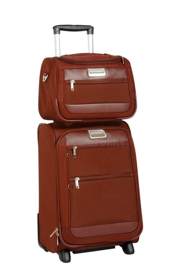 Suitcase Isolated On White Royalty Free Stock Photos