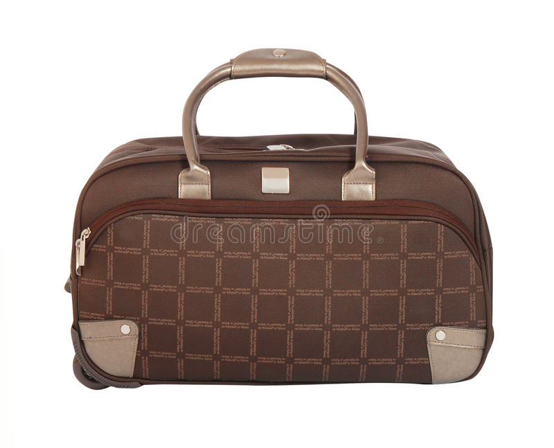 Suitcase Isolated On White Stock Image