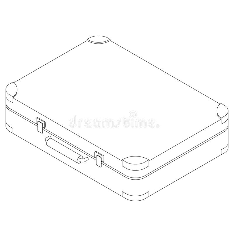 Suitcase in isometric style vector illustration