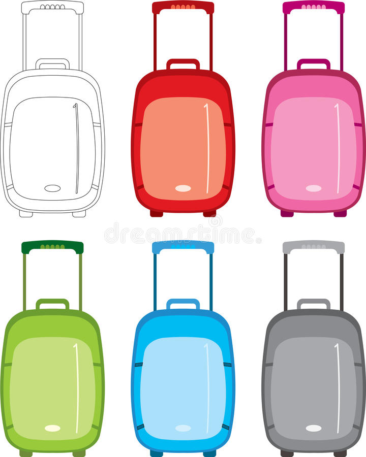 Download Suitcase set stock vector. Image of storage, lock, leisure - 10134441