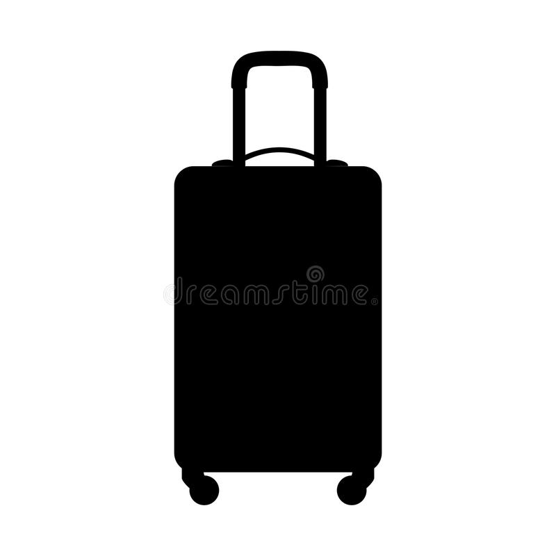 Suitcase silhouette, on white background. Vector icon. Suitcase silhouette, on a white background. Vector icon stock illustration