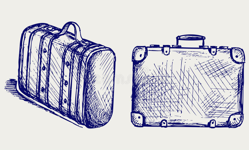 Download Suitcase Travel stock vector. Image of design, doodle - 26975248