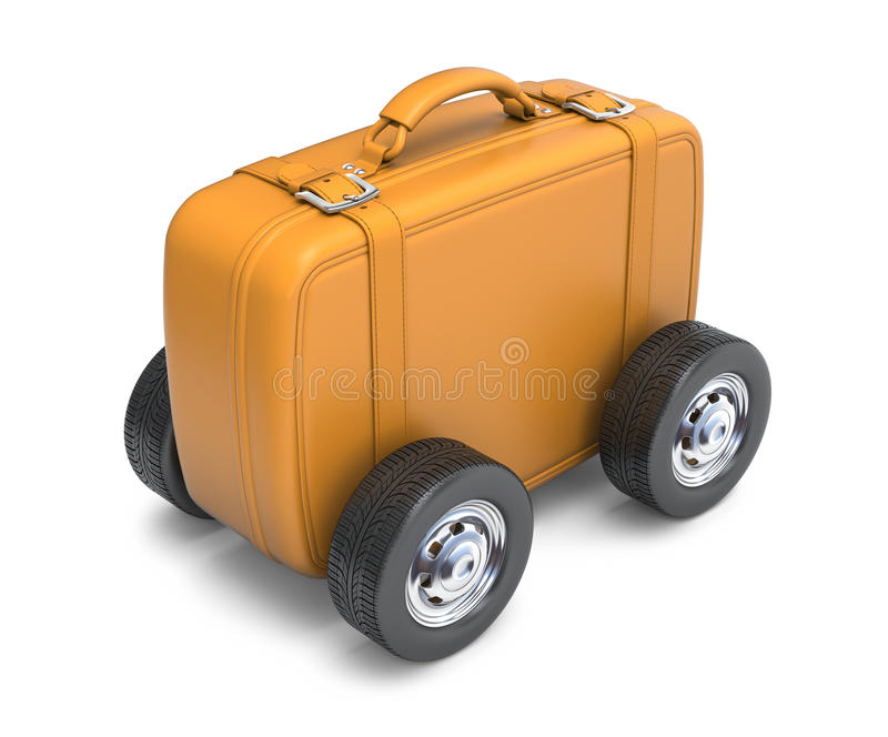 Download Suitcase with wheels stock illustration. Image of suitcase - 16135985