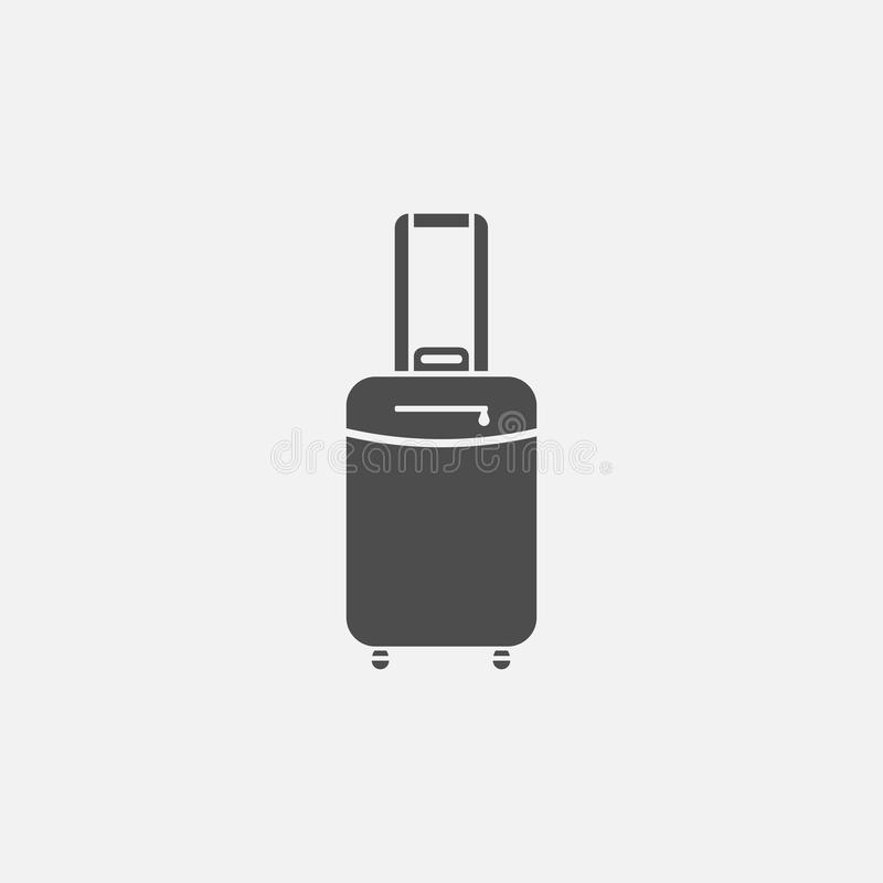 Suitcase on wheels vector icon royalty free illustration