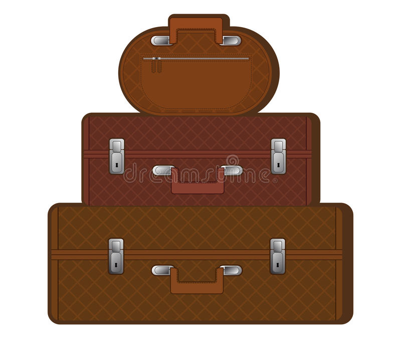 Download Suitcases stock vector. Image of train, close, items - 19057316