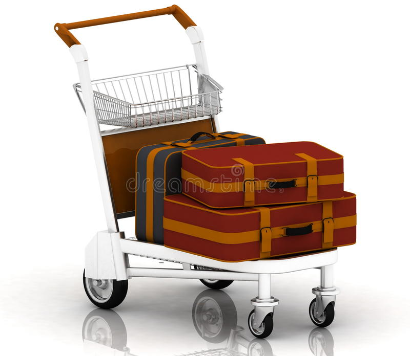 Download Suitcases stock illustration. Image of carryall, knapsack - 20258209