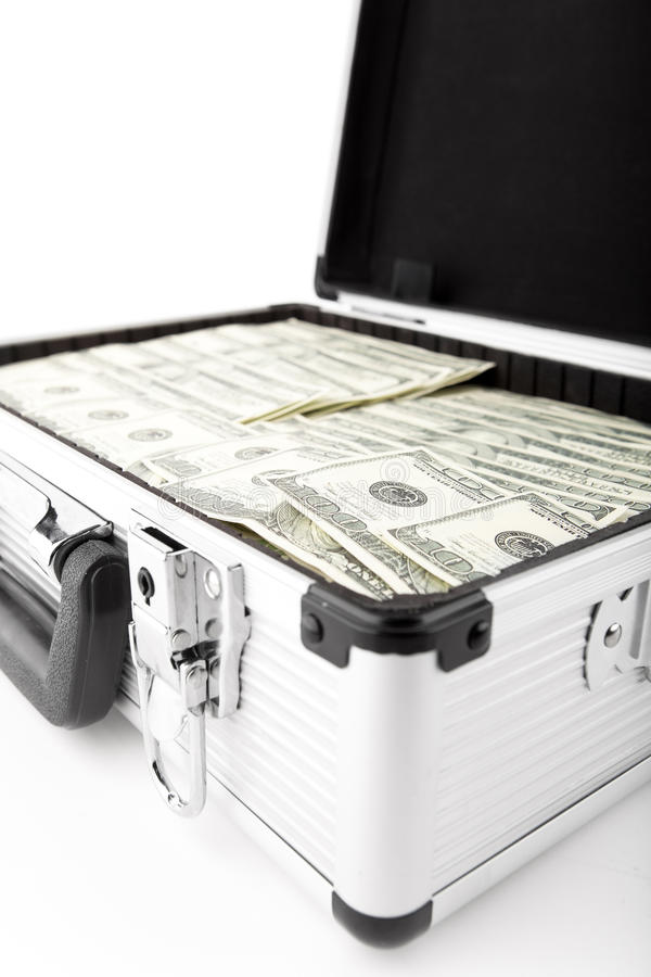 Download Suitcases with dollars stock image. Image of financial - 23418265