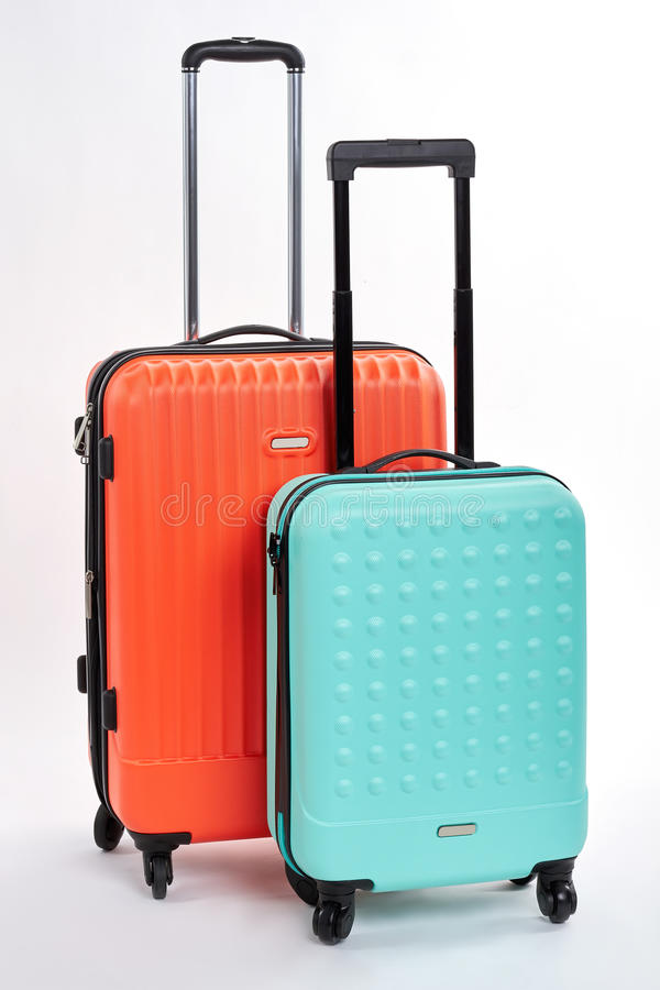 Free Suitcases With Handles Close Up. Stock Photography - 95111672