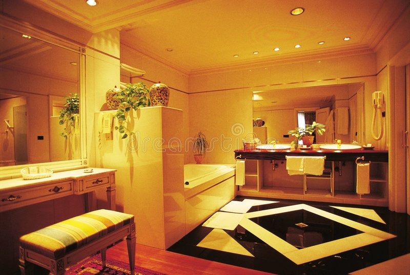 Suite bathroom. Bathroom of a suite in a luxury hotel