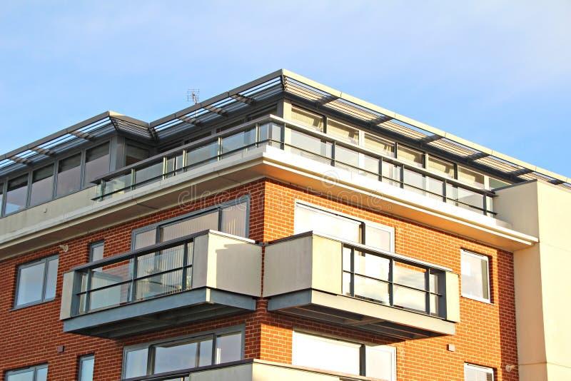 Suite d'appartement terrasse de dessus de toit image libre de droits