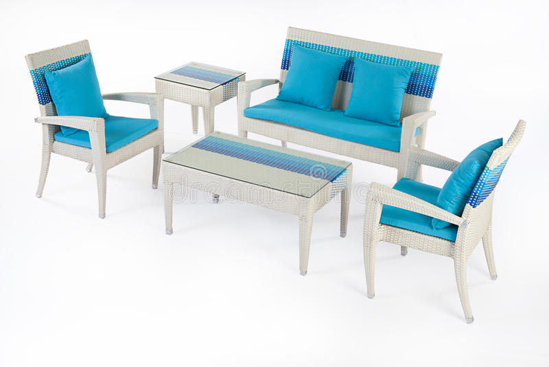 Suite des meubles en osier photos libres de droits