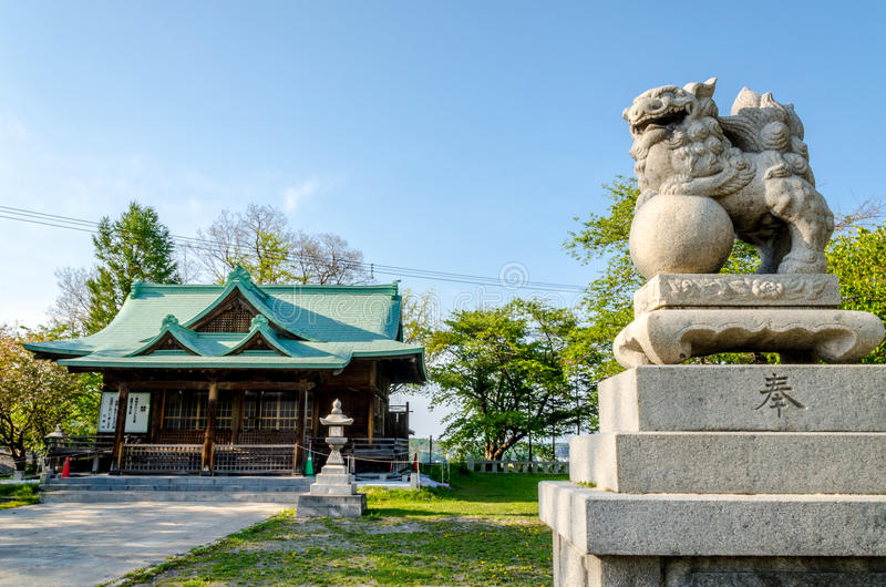 Suitengu寺庙神道的信徒的宗教寺庙在小樽,北海道 免版税库存图片