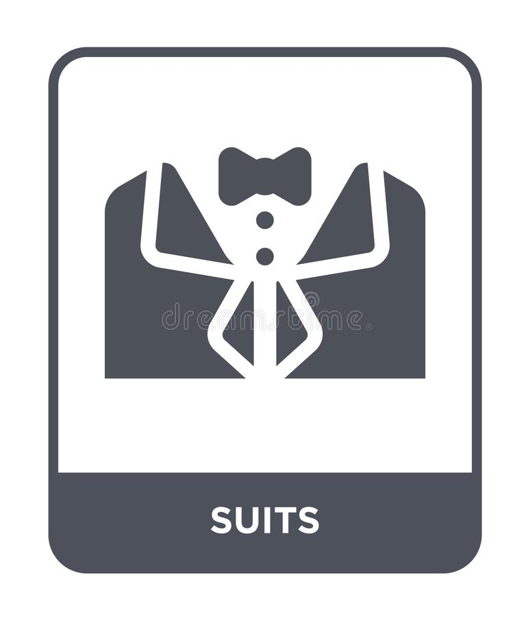 Suits icon in trendy design style. suits icon isolated on white background. suits vector icon simple and modern flat symbol for. Web site, mobile, logo, app, UI stock illustration