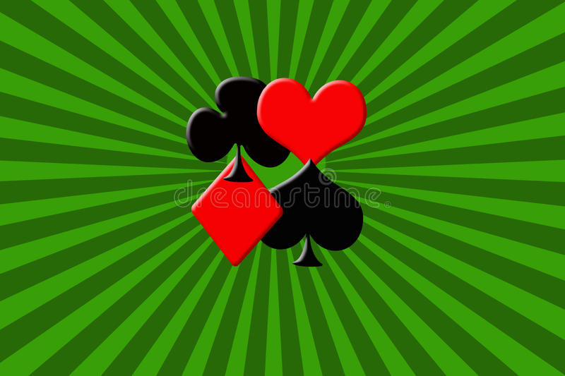 Suits of poker cards stock images