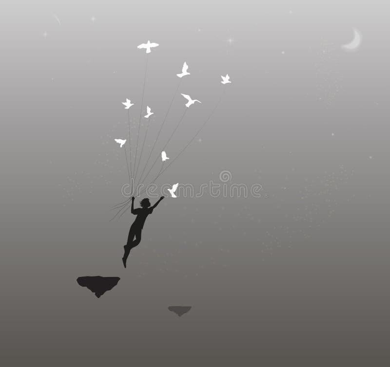 Suivez à votre rêve, illustration stock