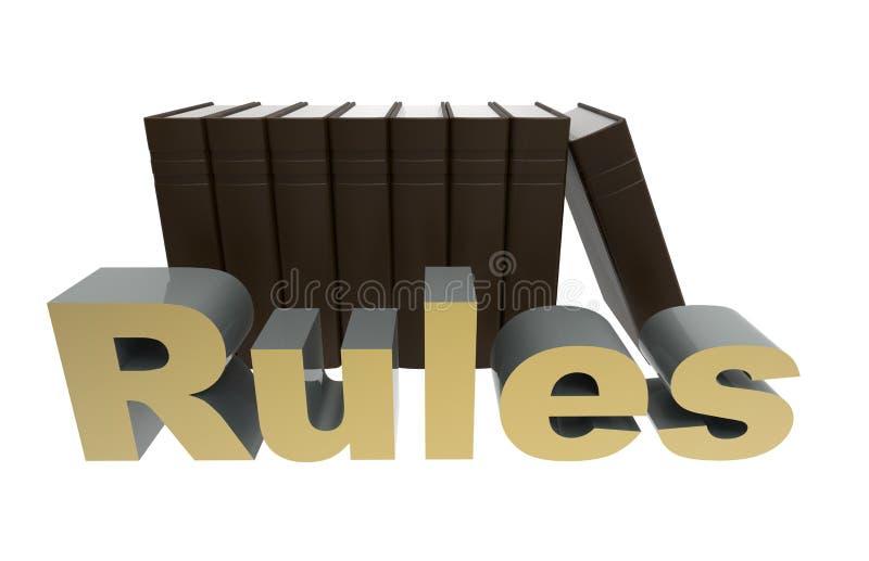 Suivez le concept de règles illustration stock