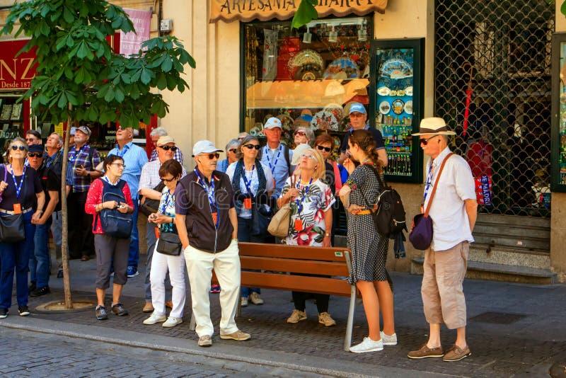 Suivez le guide et recherchez à Salamanque, Espagne image stock