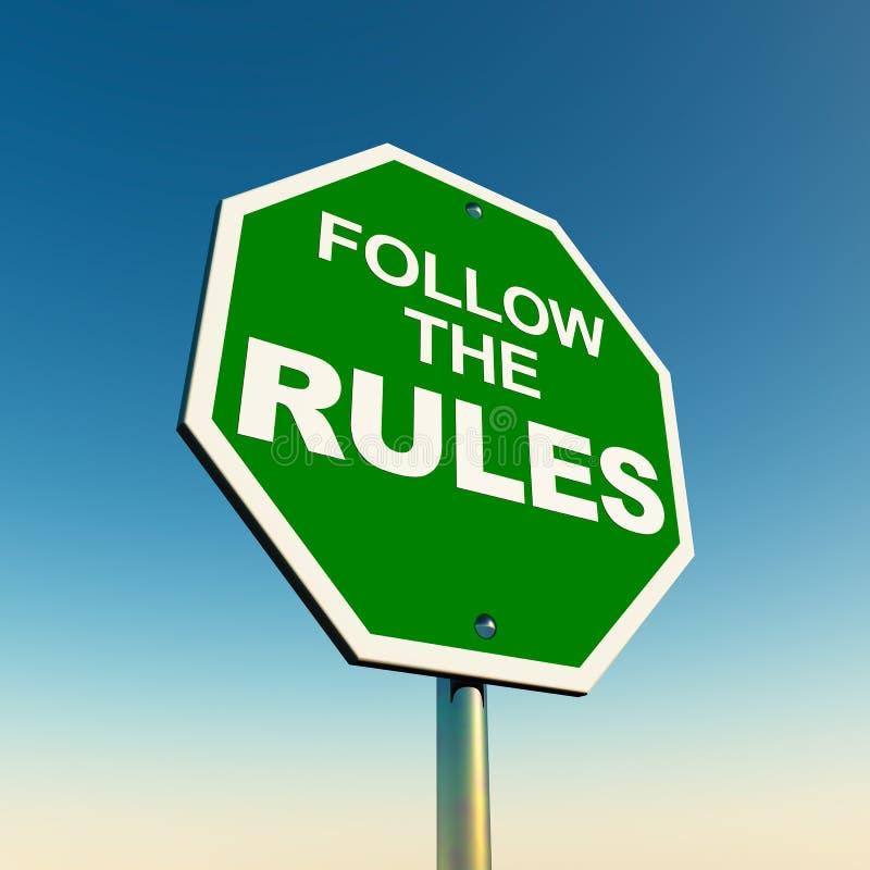 Suivez les règles illustration libre de droits