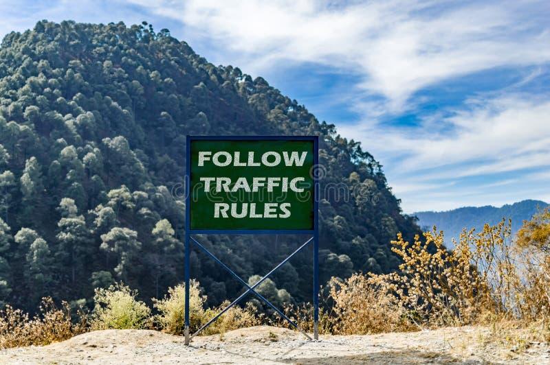 Suivez les règles de la circulation image libre de droits