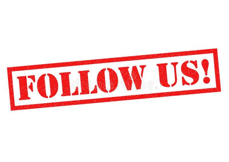 Suivez-nous ! illustration libre de droits