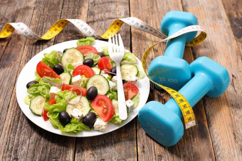 Suivez un régime la nourriture images stock