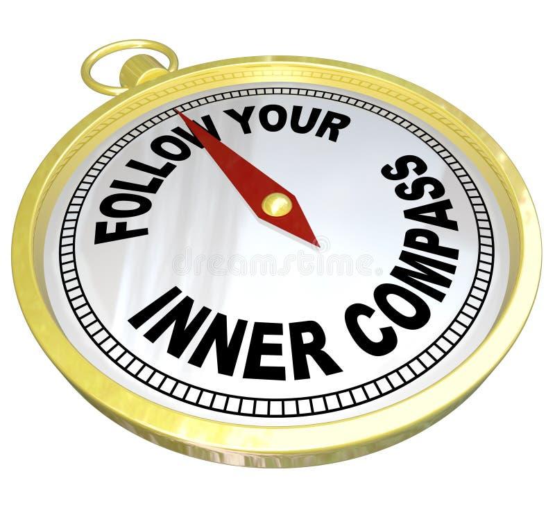 Suivez vos directions intérieures de boussole pour le succès illustration de vecteur