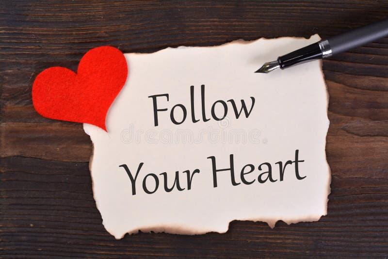 Suivez votre coeur photo stock