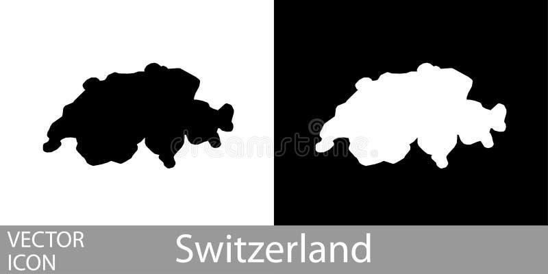 Suiza detalló el mapa stock de ilustración