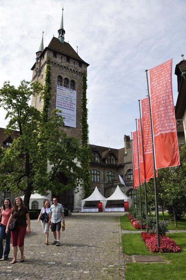 Suiza: exposición en el Museo Nacional suizo en ricos del ¼ de ZÃ imagen de archivo libre de regalías