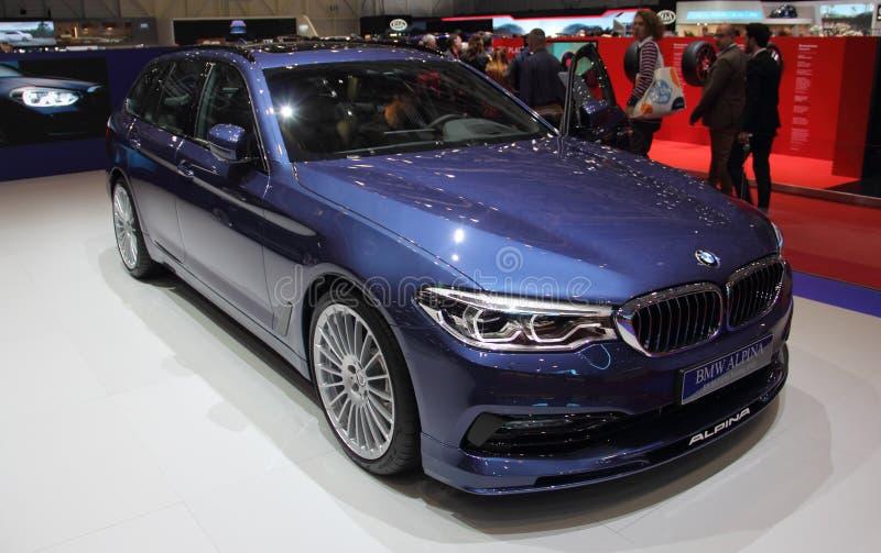 Suiza; Ginebra; 8 de marzo de 2018; BMW Alpina B5 BI-Turbo Touri fotografía de archivo
