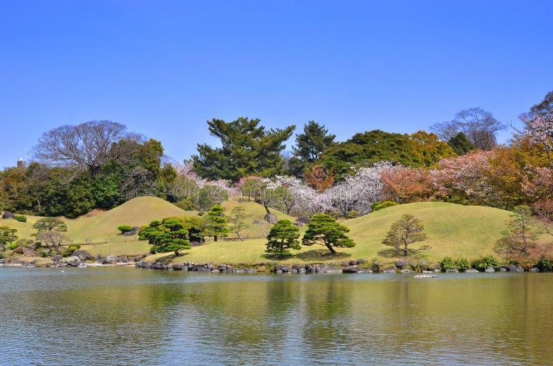 Suizenji庭院在熊本,日本 库存图片