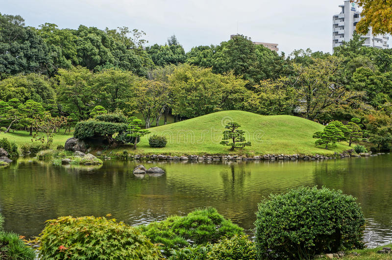 Suizenji-Garten in Kumamoto lizenzfreies stockfoto