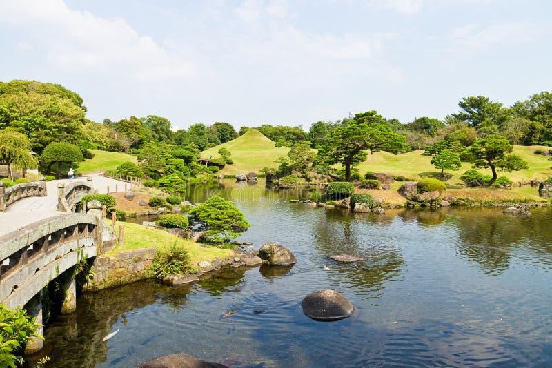 Suizenju Koen Lake chez Kumamoto photo libre de droits