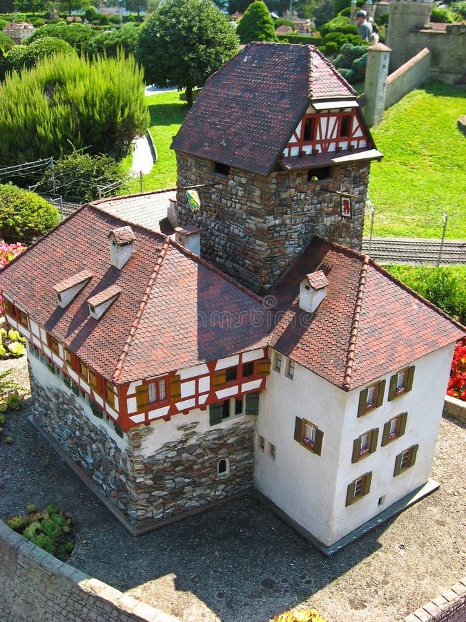Suizo de Miniatur, edificios famosos en Suiza foto de archivo libre de regalías
