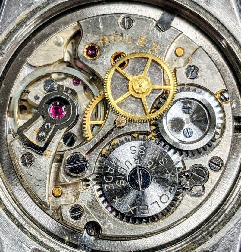 Suizo MadePremium del movimiento de Rubis del reloj 15 de Rolex del vintage imagenes de archivo