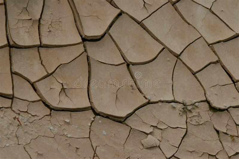 Sujeira de rachamento do deserto imagem de stock