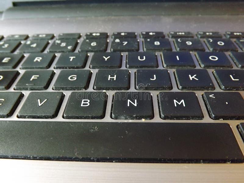 Sujeira e bactérias no teclado imagem de stock royalty free