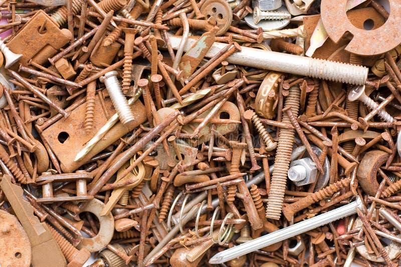 Sujetadores oxidados del metal fotos de archivo