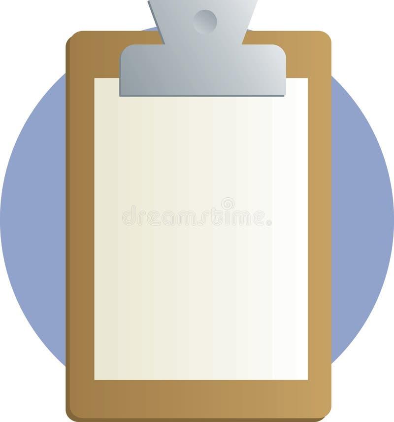 Sujetapapeles con la hoja de papel ilustración del vector