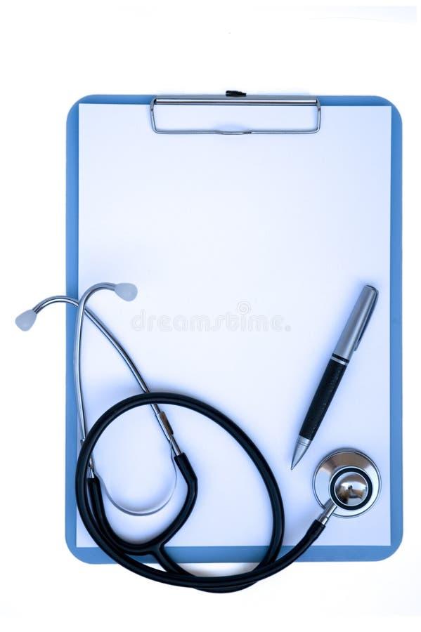 Sujetapapeles médico foto de archivo libre de regalías