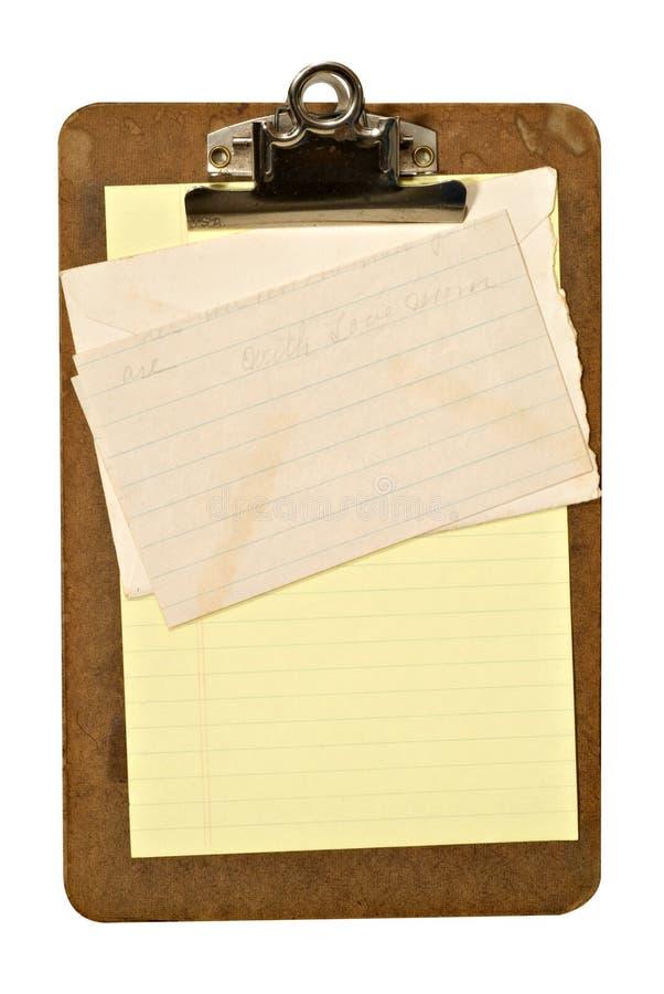 Sujetapapeles y carta fotos de archivo